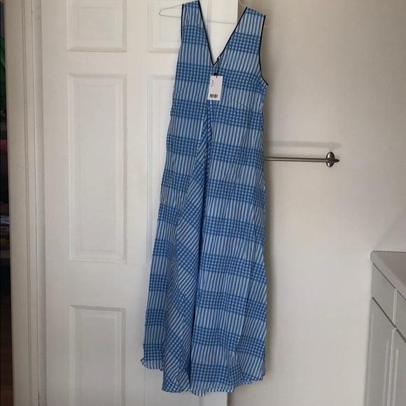 Ganni Dresses Charron Checked Seersucker Maxi Dress Poshmark